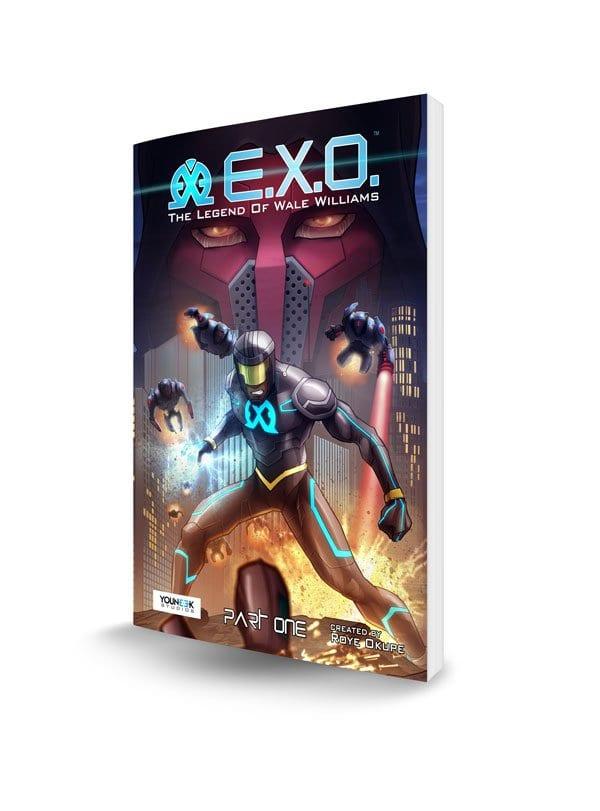 E.X.O. 3D Book Cover