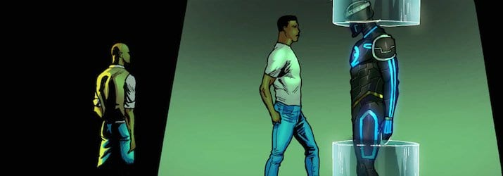 Wale Williams looking towards greatness. From the E.X.O. Graphic Novel - Creating Comics