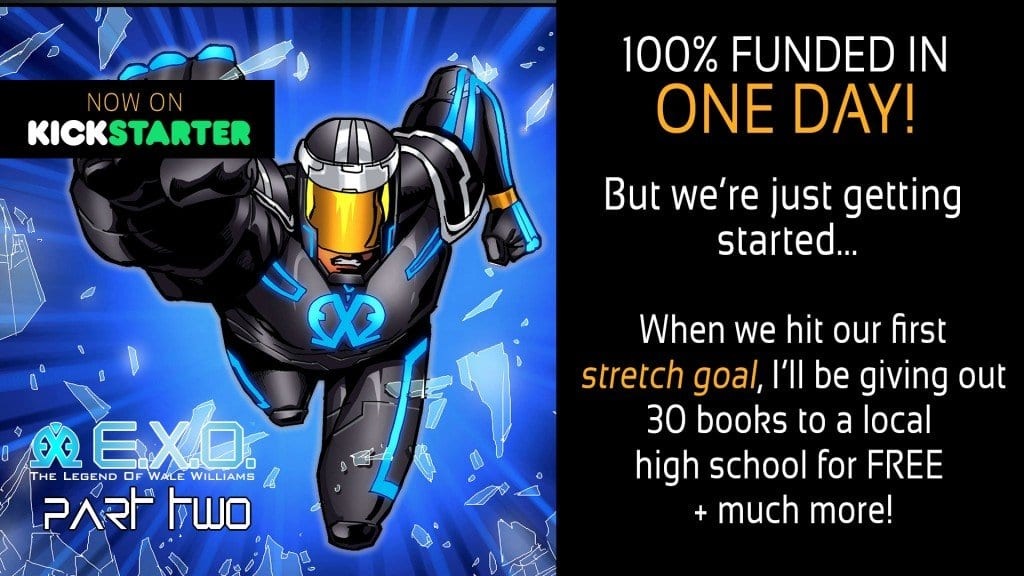 E.X.O. funded in one day